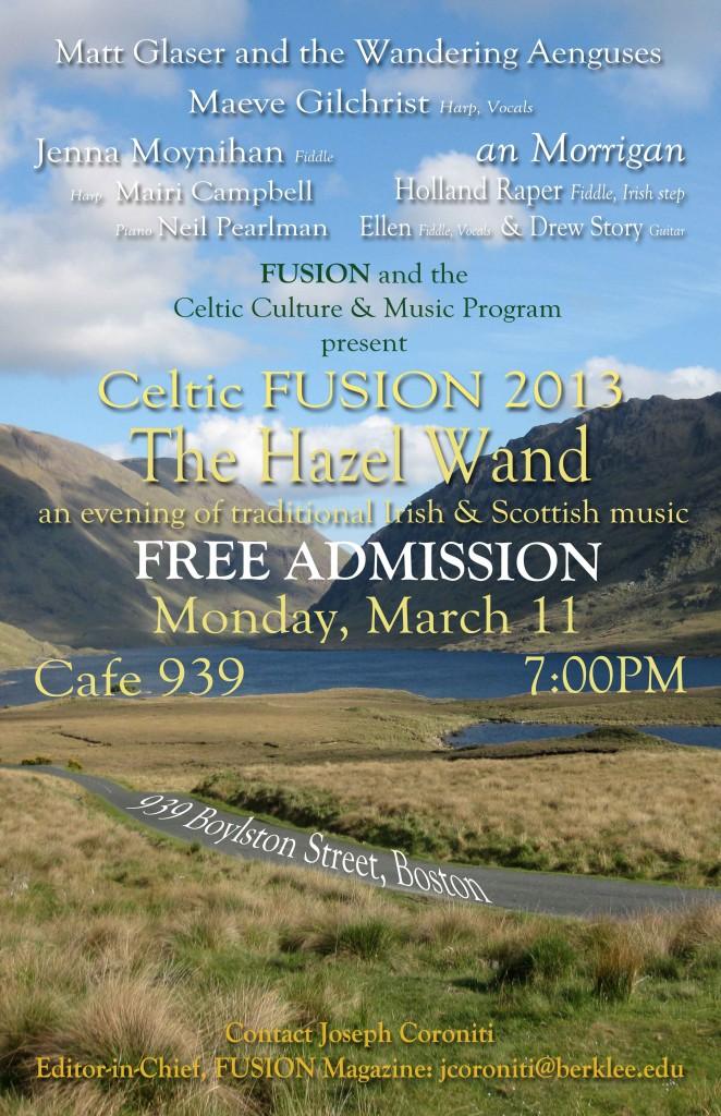 Celtic FUSION 2013 Poster3