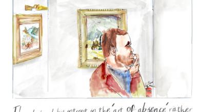 Cartoon, Art of Absence, Simon Patch, Mary Sarpong