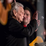 David Hollender, Nathan Stanley watches grandfather _ bluegrass legend Ralph Stanley acknowledge fans on his farewell tour
