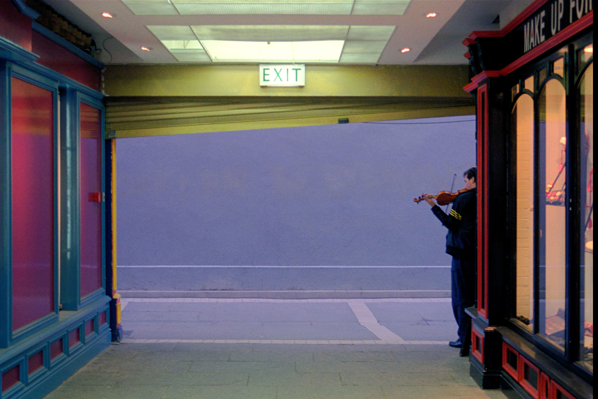 Lone Fiddler, Johnson's Court, Dublin by Fionán O'Connell