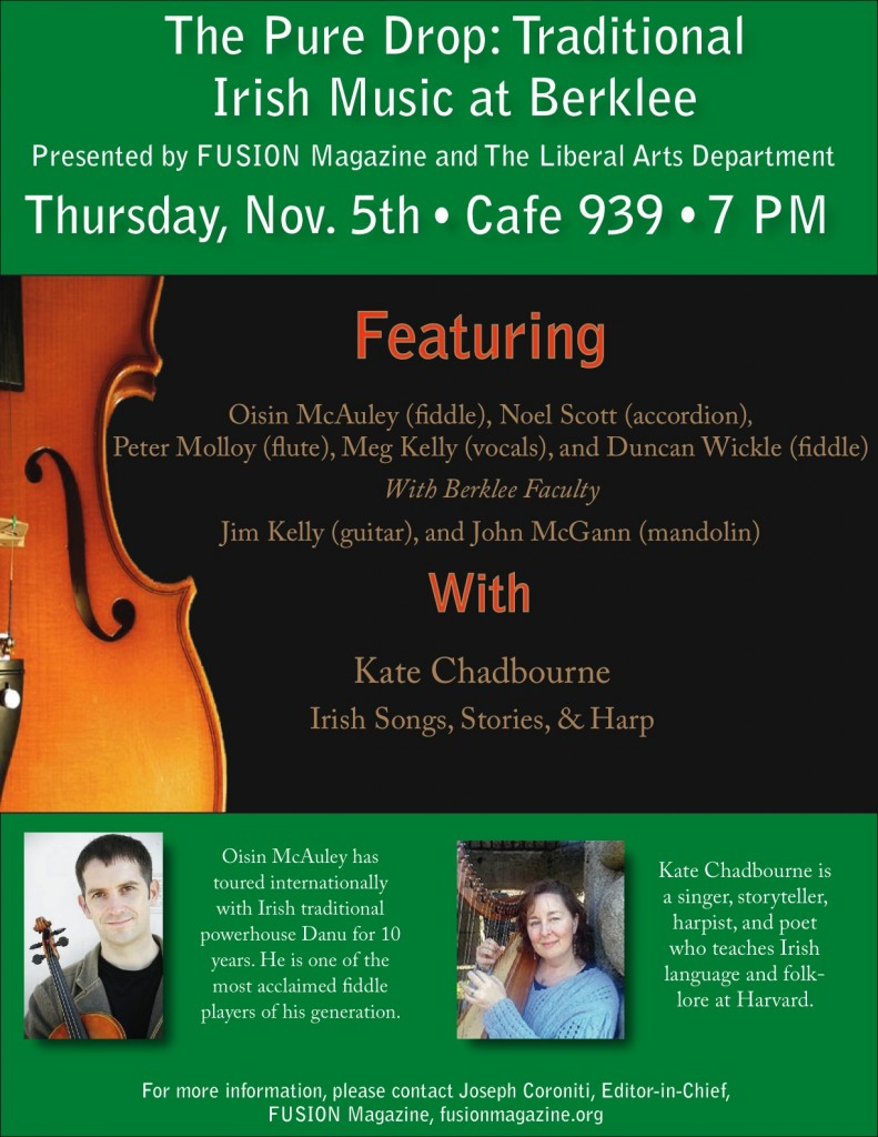 The Pure Drop:  Traditional Irish Music at Berklee