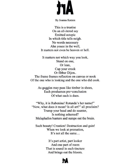 Art poem