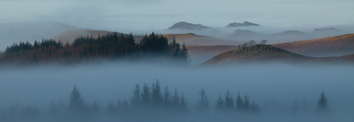 Foggy Morning, Strathlachlan, Michael Russell